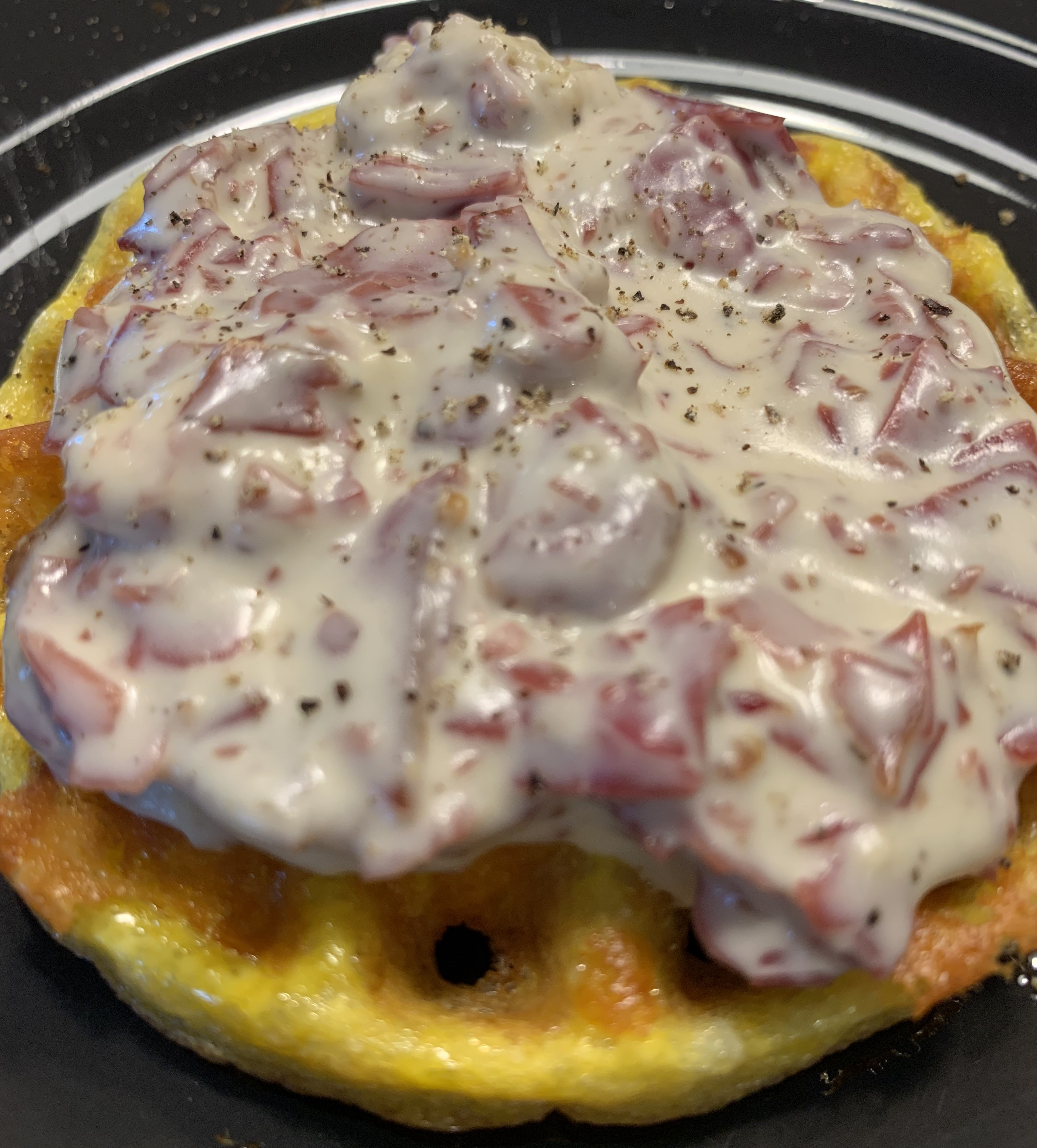 Creamed Chipped Beef On Chaffle Cluttered Kitchen Keto